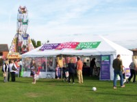 Hands-on-Arts pavilion at Spencer's Wood Carnival