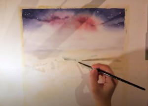 Click image to see Gemma Cumming's time lapse painting