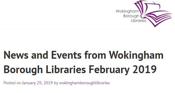 Click for Wokingham Borough's libraries events guide